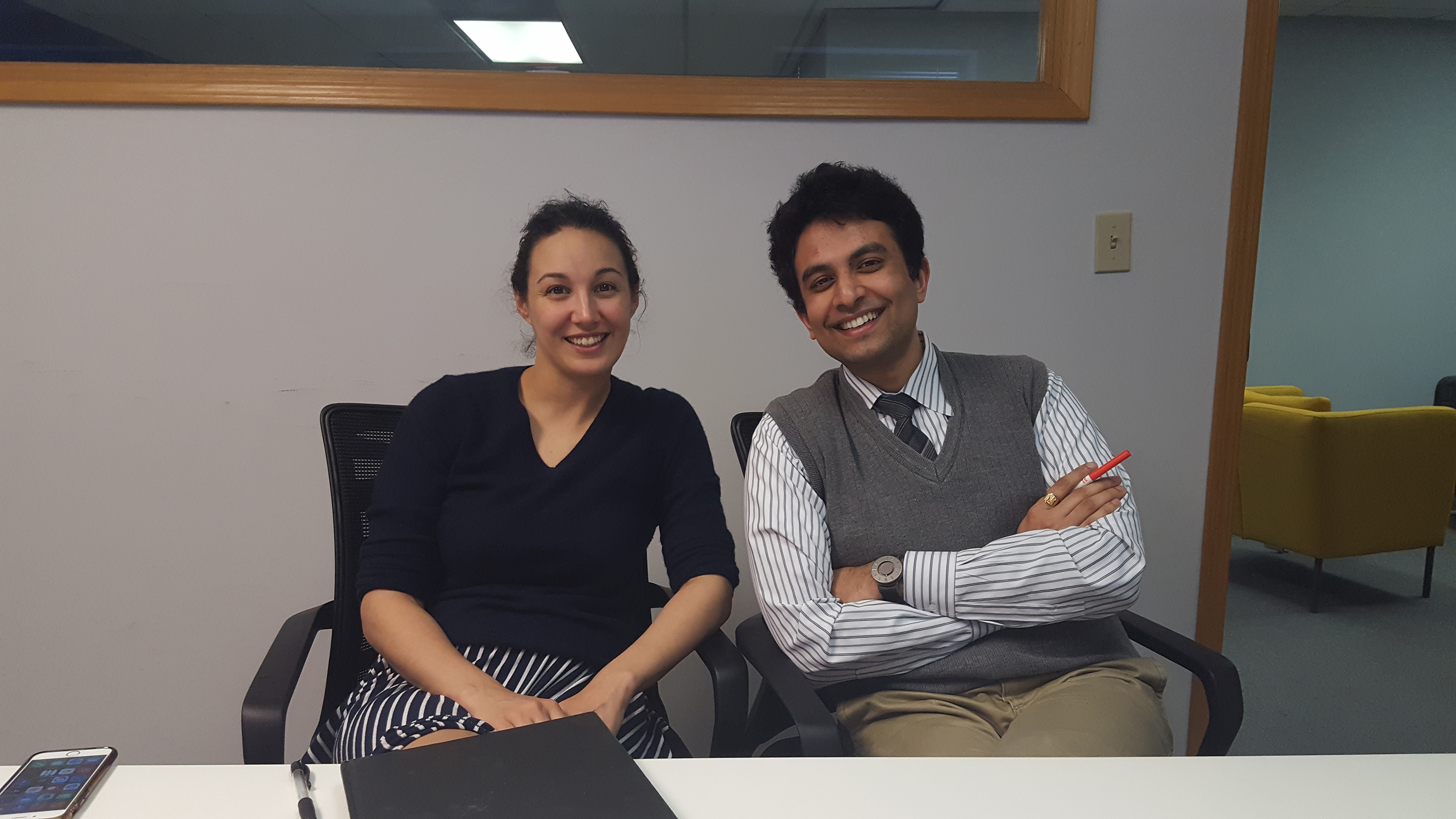 Katie Boody and Aditya Voleti of the Lean Lab in Kansas City