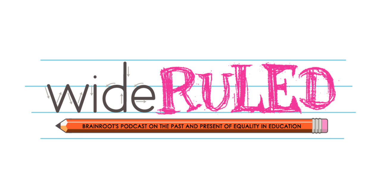 Wide Ruled Podcast - Header Logo with Glow